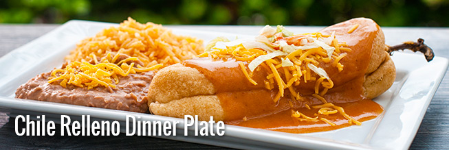 Served with rice beans and a drink & Combos and Dinner Plates - Sombrero Mexican Food